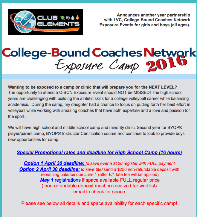 College Coaches Camp: College-Bound Coaches Network™